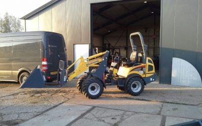 Mustang shovel afgeleverd bij Poldersport De Kwakel